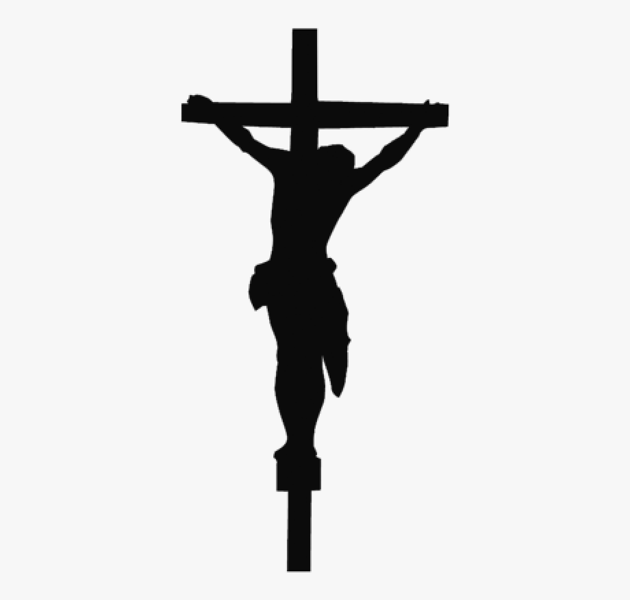 Jesus Black And White Cross Png.