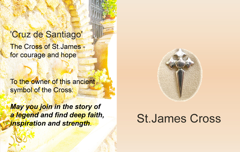Gift St James cross jewellery for Camino de Santiago de Compostela.