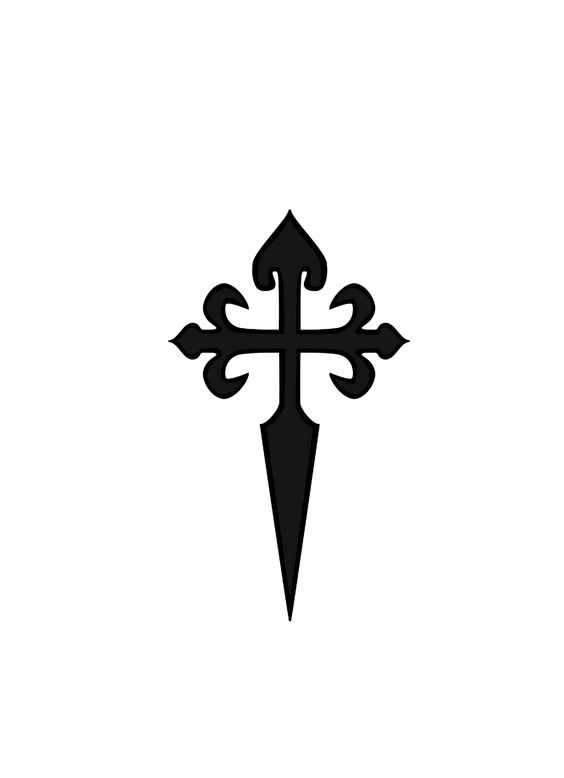 traditional cross symbol of Saint James.
