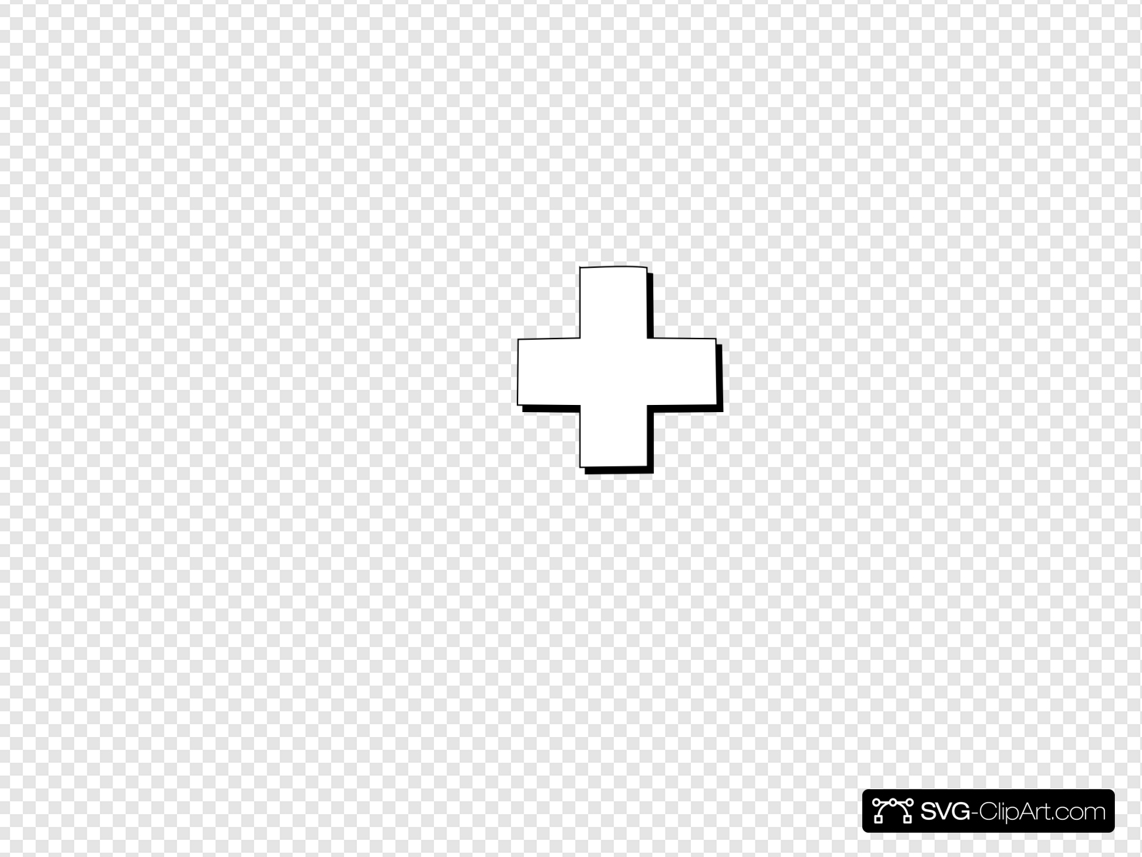 Cross Outline Clip art, Icon and SVG.