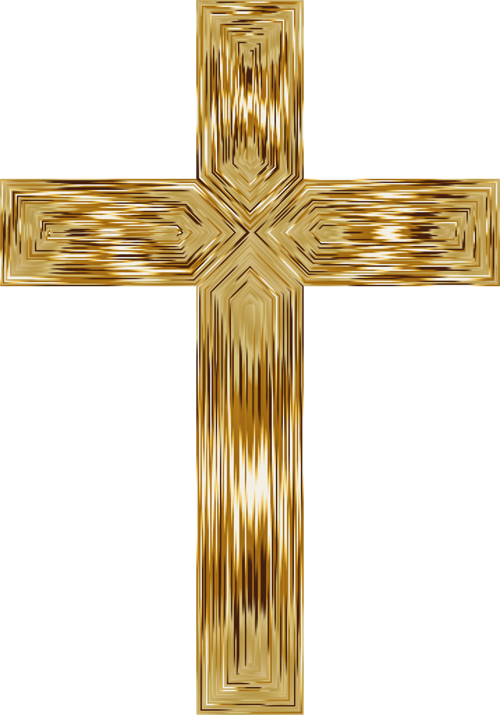 HD Gold Cross Transparent.