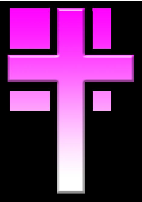 Pink cross png #25642.