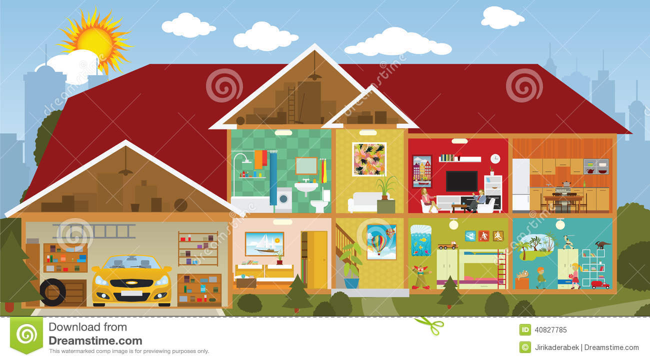 Clipart house inside.