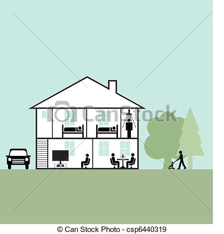 EPS Vectors of family home.