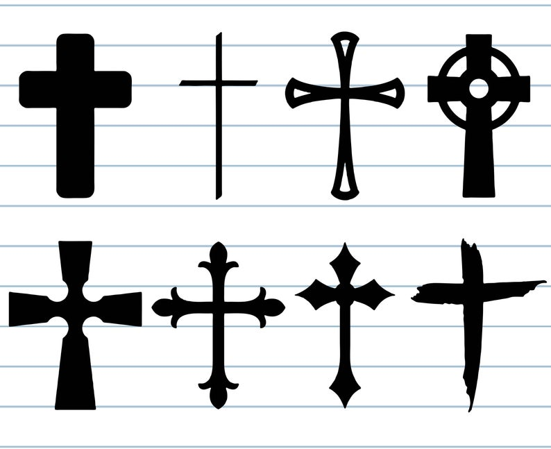 Cross svg, cross clipart, christian svg, church svg, sign silhouette,  digital.