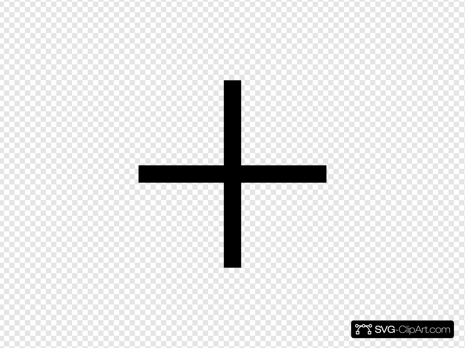 Cross Silhouette Clip art, Icon and SVG.