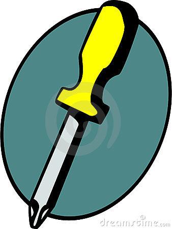 Phillips head screwdriver clipart.