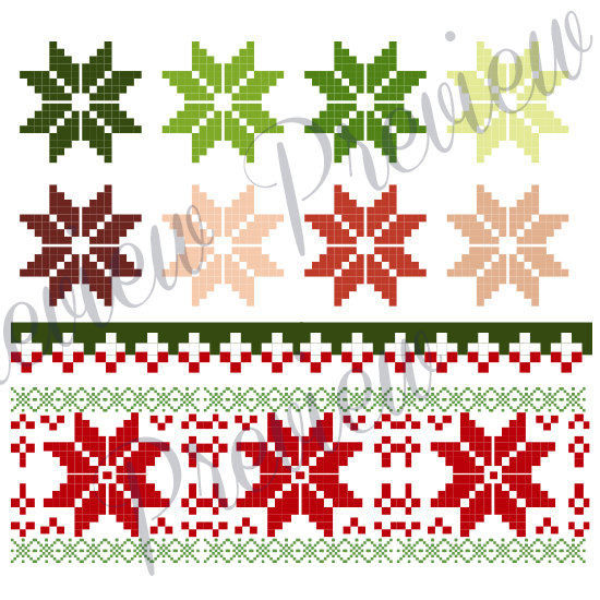 Aifactory Cliparts and illustrations: Christmas Clip Art Cross.