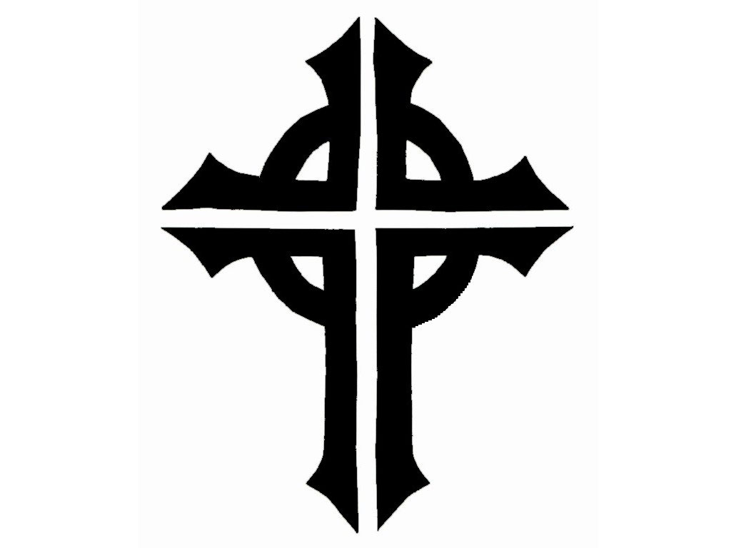 Free Black And White Cross Tattoo, Download Free Clip Art.