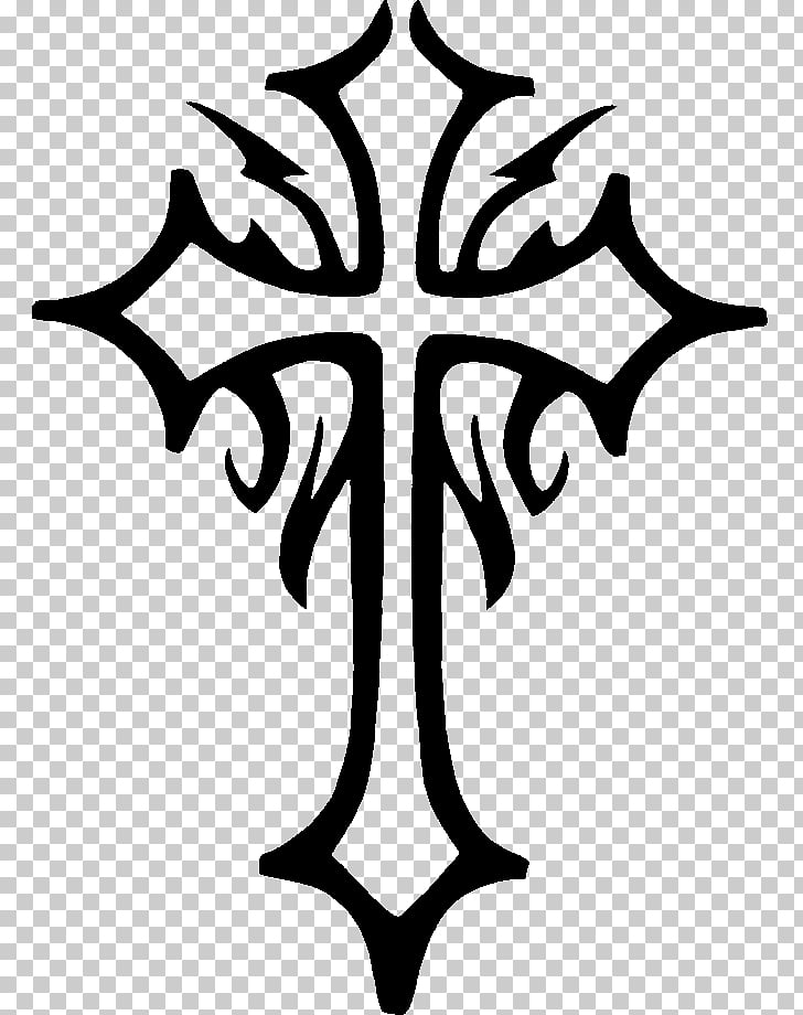 Stencil Christian cross Celtic cross, tattoo PNG clipart.