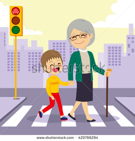 Crosswalk Child Stock Images, Royalty.