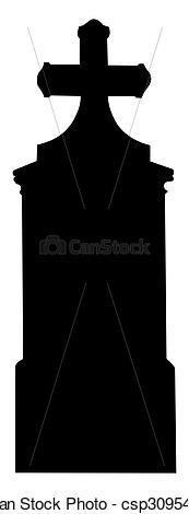 Stock Illustration of Grave cross 01 big.