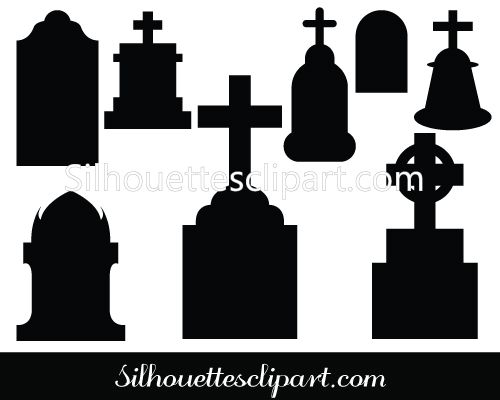 Cross tombstone silhouette clipart clipground 134 best images about halloween vector graphics on pinterest tombstone silhouettes vector silhouette clip art voltagebd Choice Image