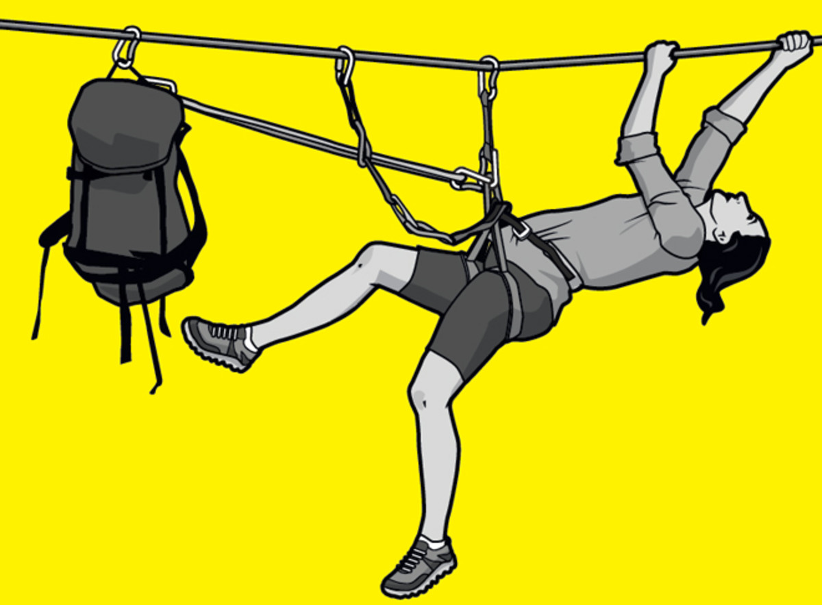 How to Do the Tyrolean Traverse.