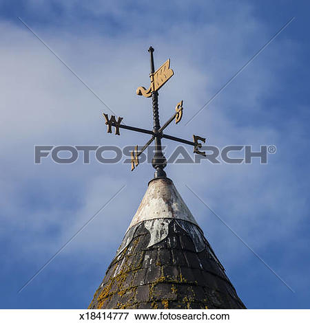 Picture of A weather vane on a church spire x18414777.
