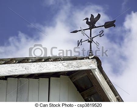 Stock Photography of Weather Vane on Barn.