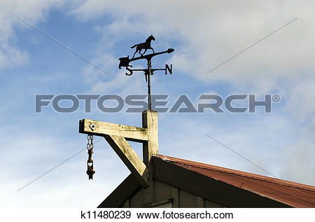 Stock Photograph of Horse Weather Vane k11480239.