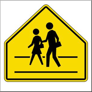 Clip Art: Signs: Crosswalk Color I abcteach.com.