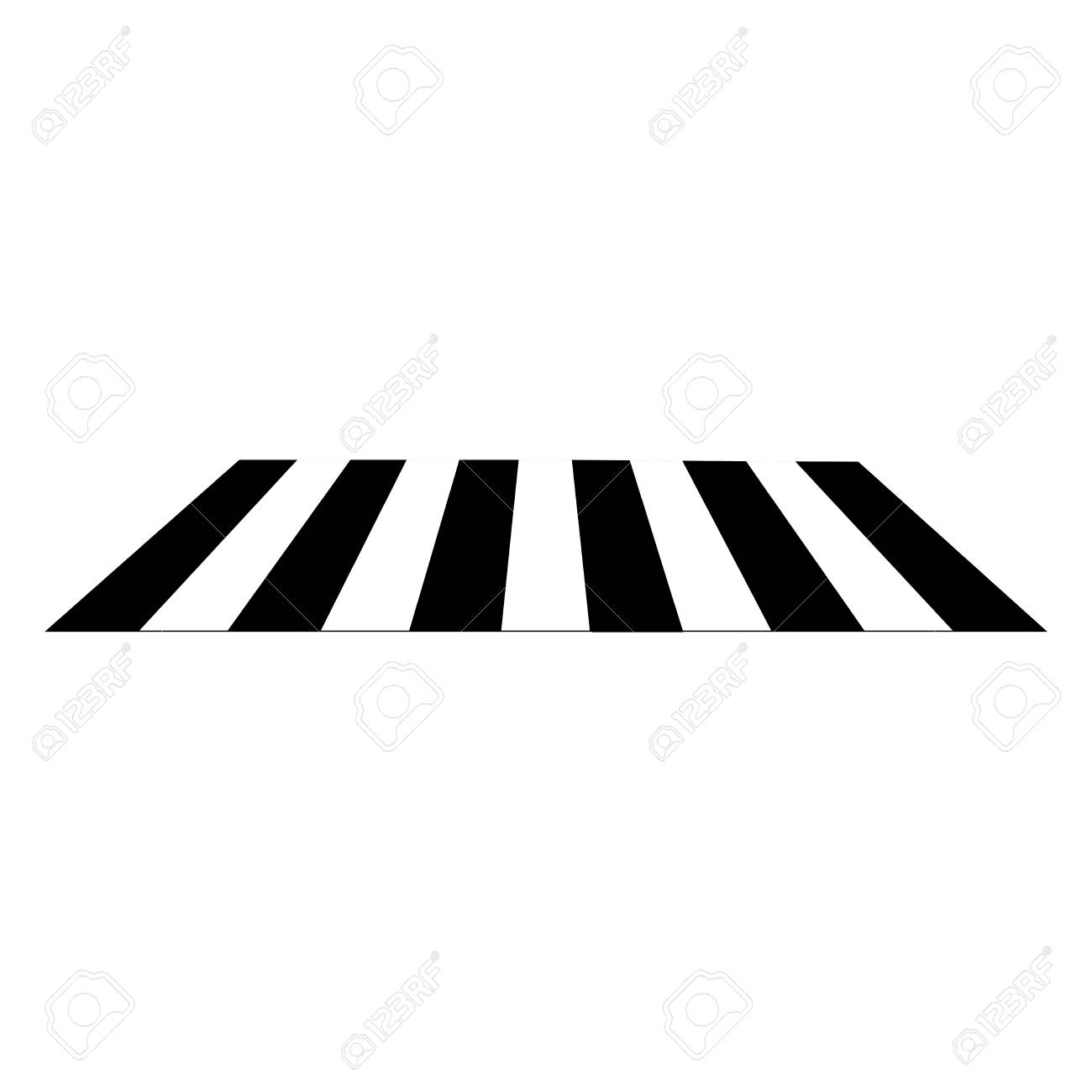 Crosswalk sign black on white background. Icon a pedestrian place...
