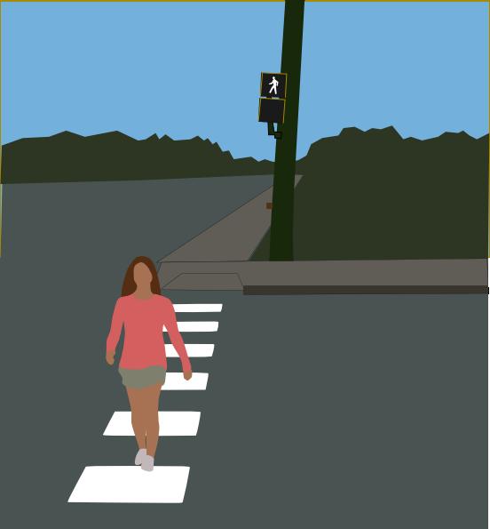 Crosswalk Sign Clipart.