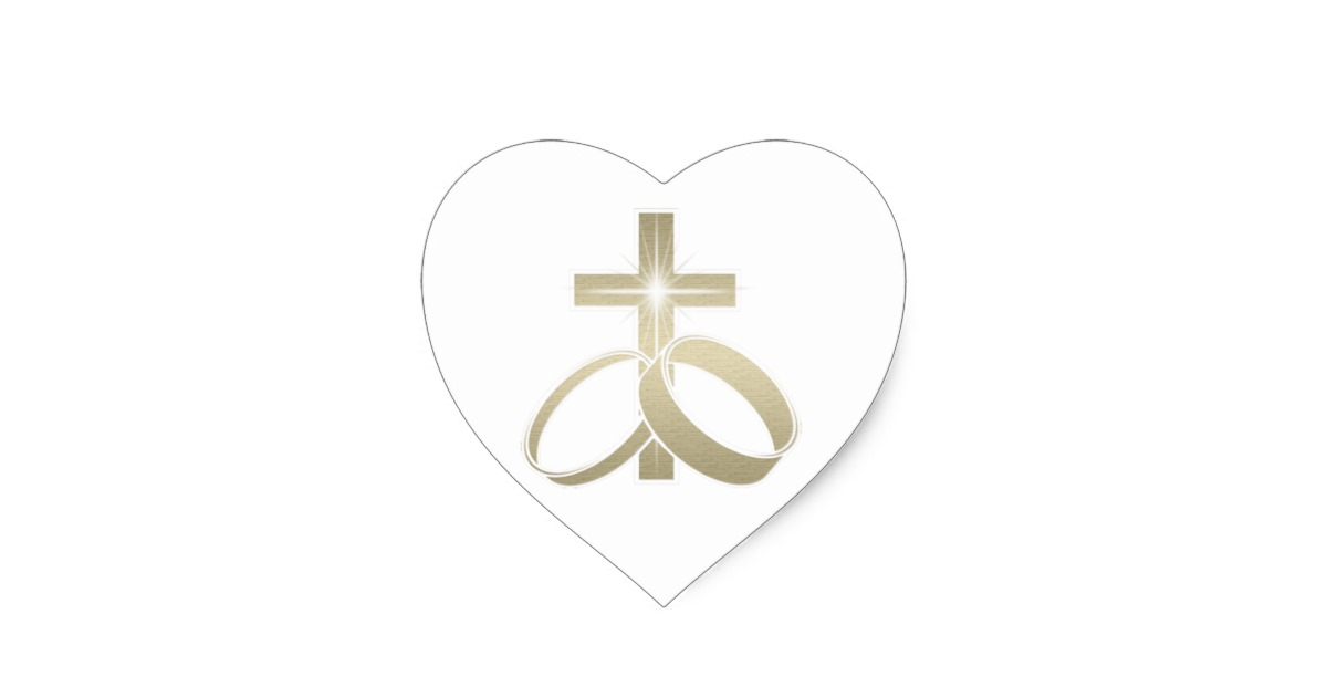 Cross And Wedding Rings Clipart.