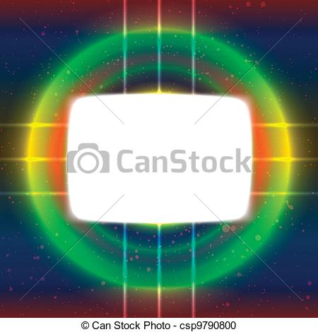 Vector Clipart of Shiny screen on the crossed wires.