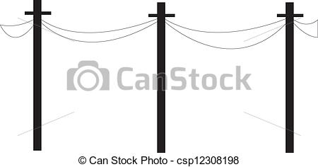 EPS Vectors of telephone wire.