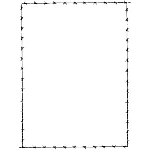 Revans Barbed Wire Border clip art.