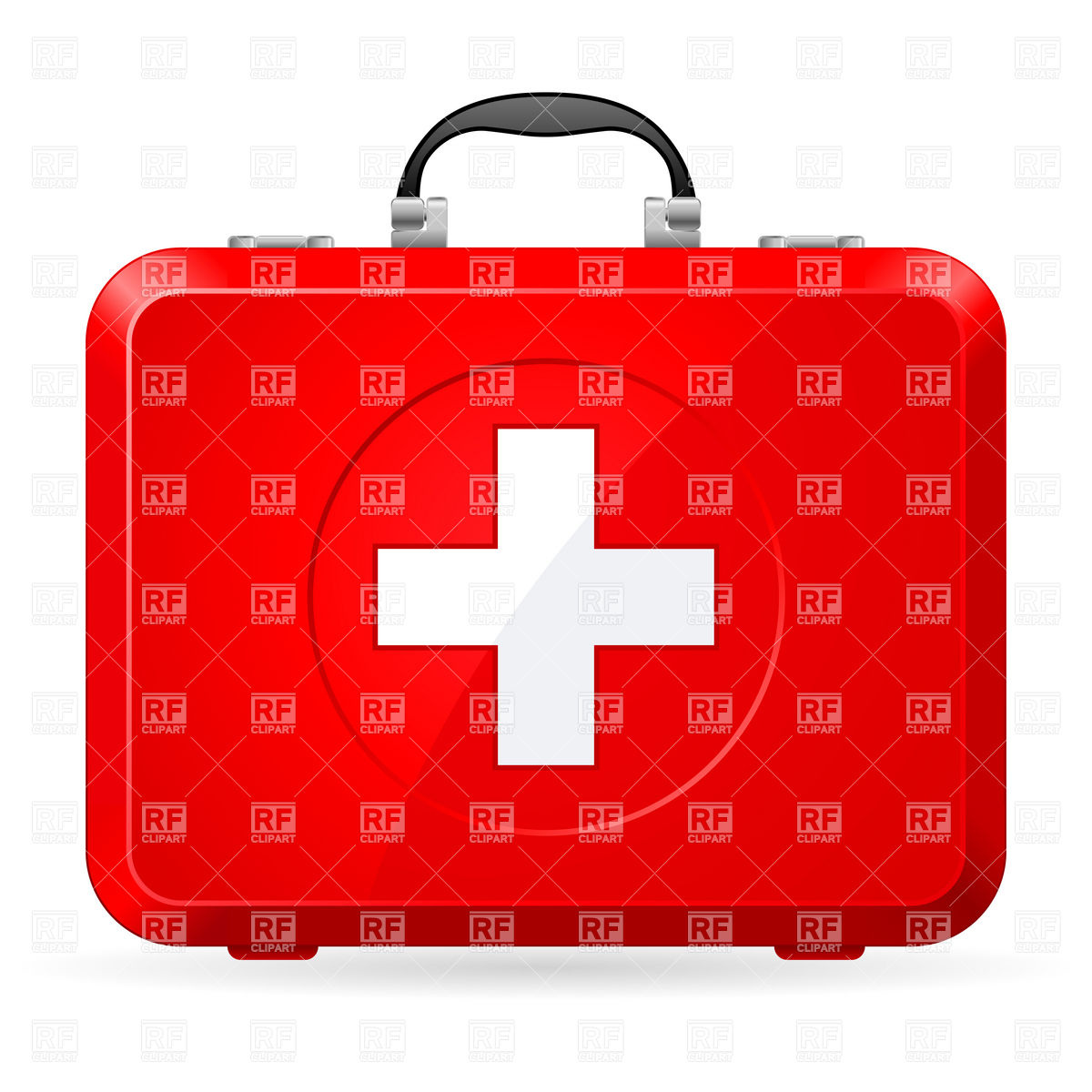 Red first aid kit with handle Vector Image #6822.