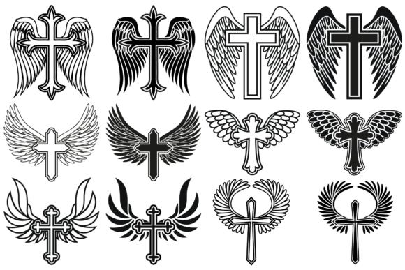 Cross with Wings SVG, Cross Svg, Angel Wings.