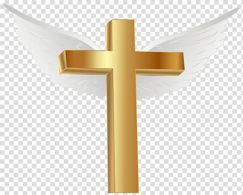 Brown Cross with wings illustration, Lihir Island Gold Cross.