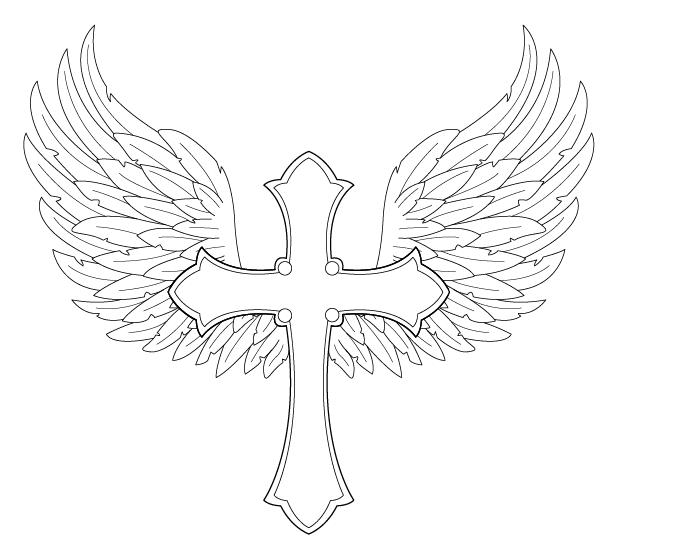 7028 Wings free clipart.