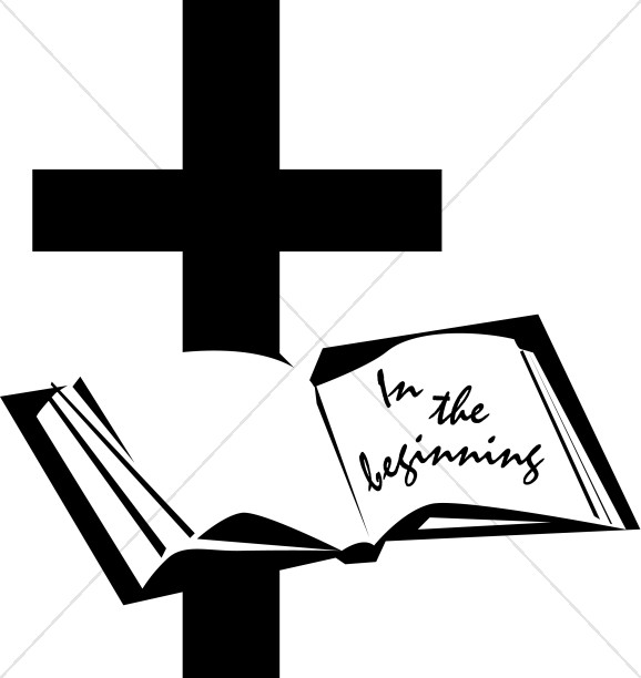 In the Beginning, Bible and Cross.