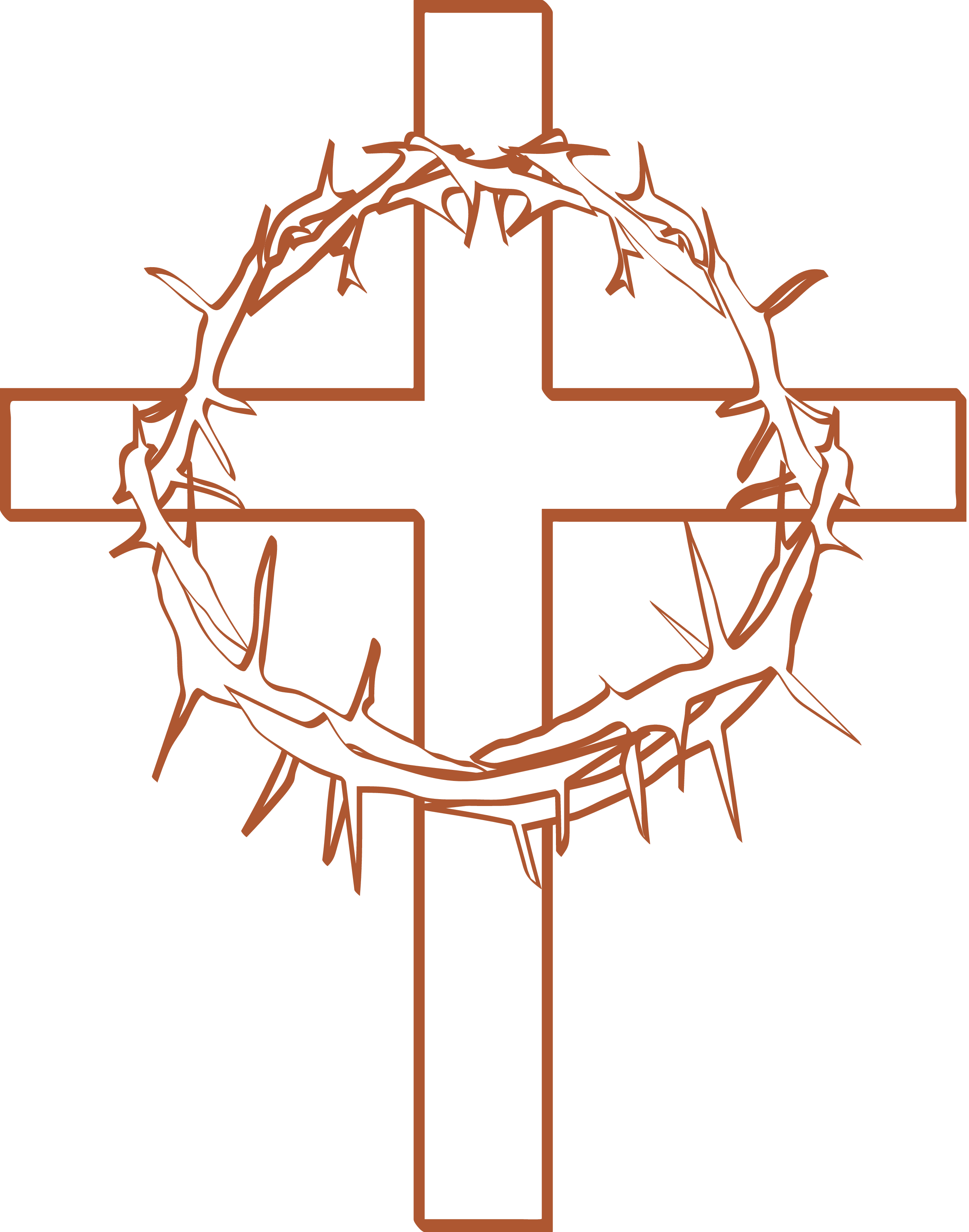 Calvary Crown of thorns Cross and Crown Christian cross Clip.