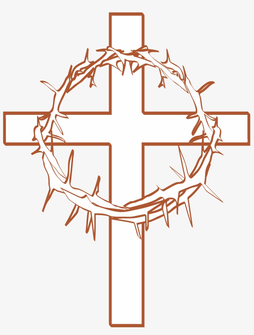 Cross With Crown Of Thorns Clipart.