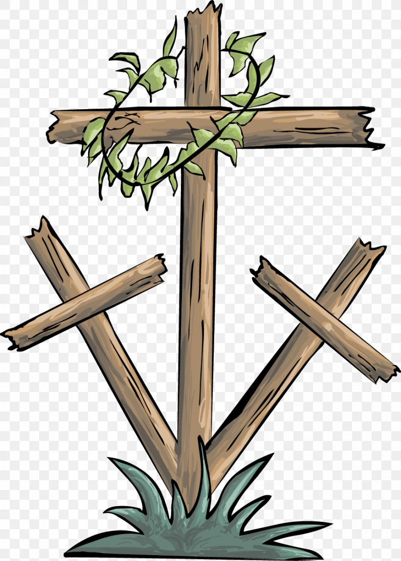 Good Friday Christian Cross Crown Of Thorns Clip Art, PNG.
