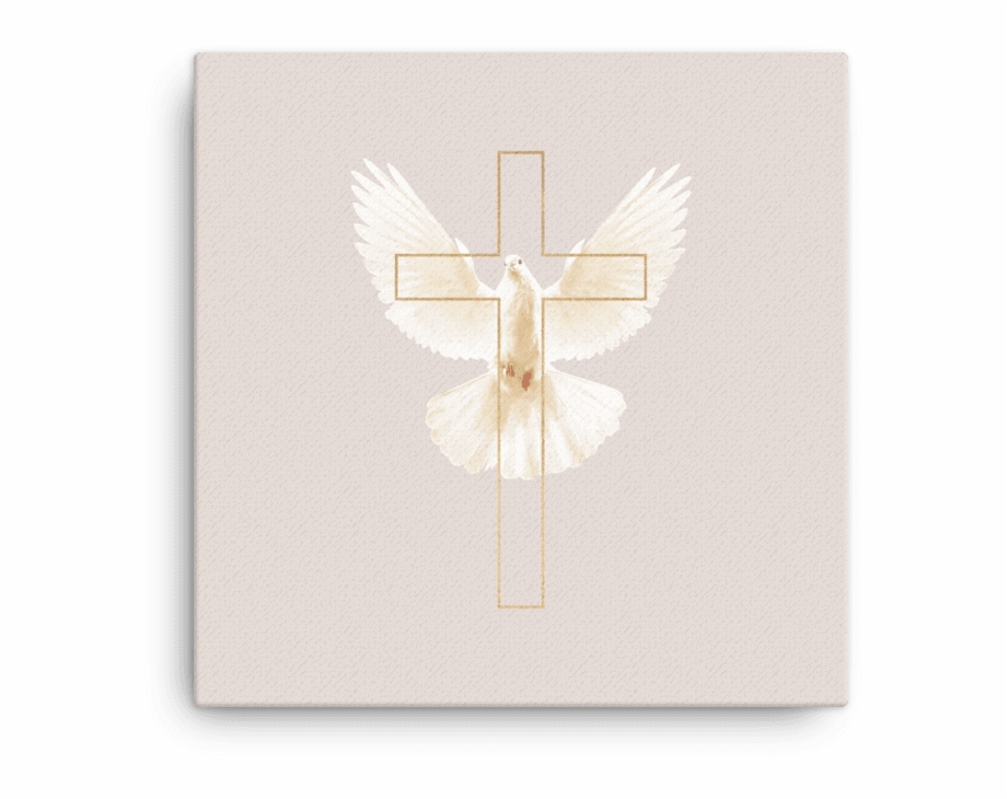 Gold Cross With Dove Of Peace.