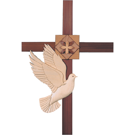 Cross With Dove Png Vector, Clipart, PSD.