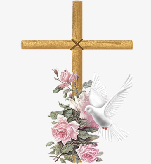Cross With Flowers Png & Free Cross With Flowers.png.