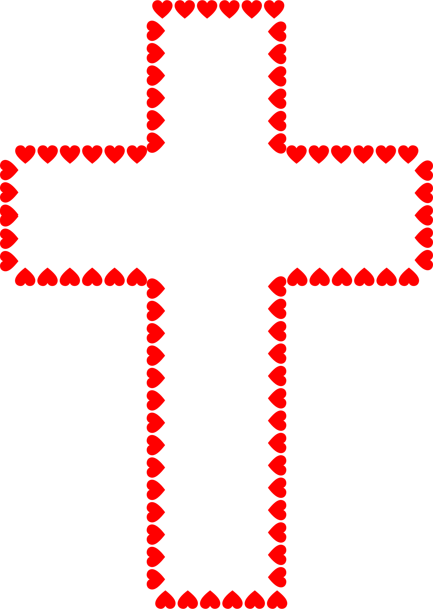 Cross with heart image black and white download png files, Free CLip.