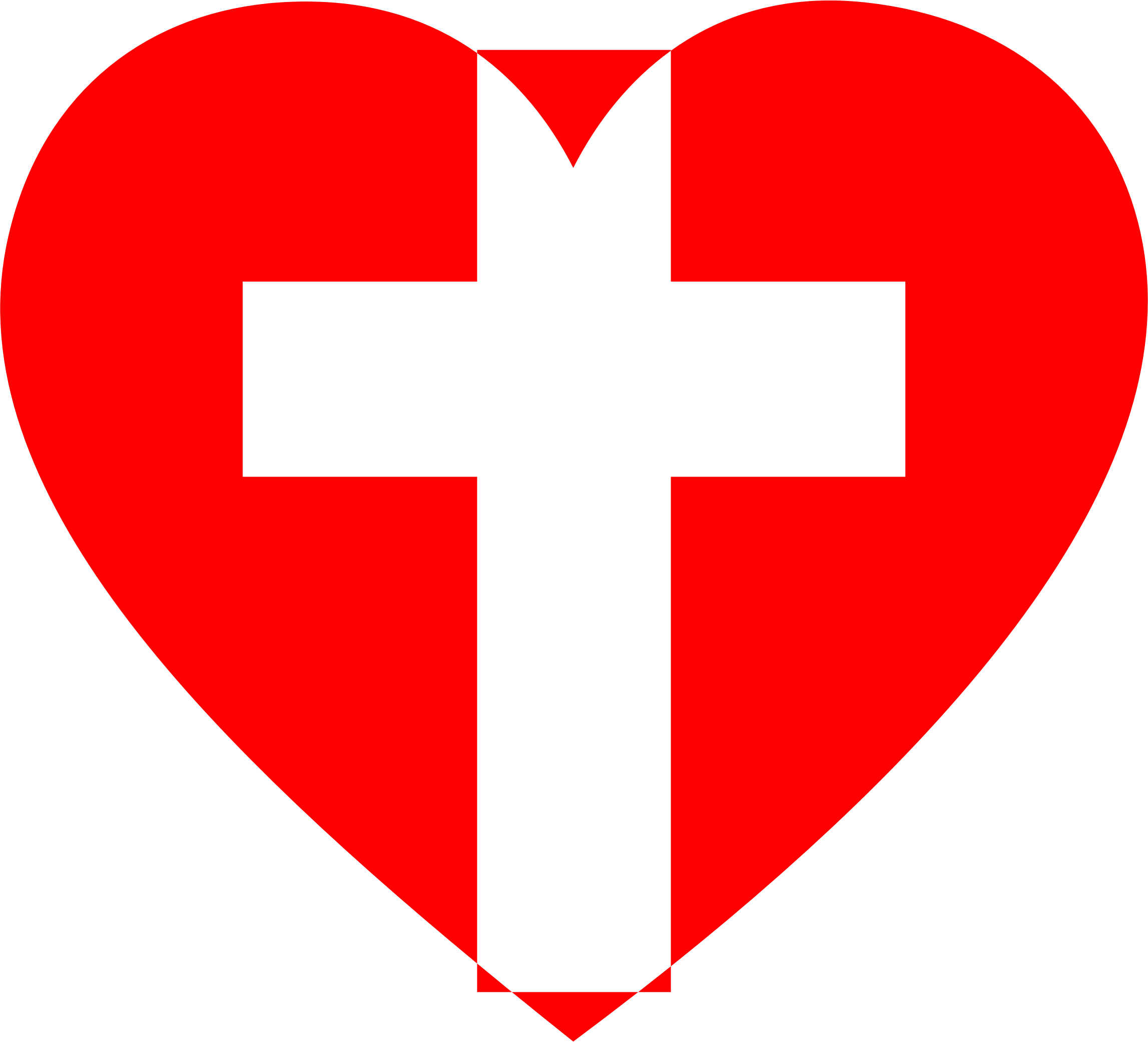 Cross With Heart Clipart.