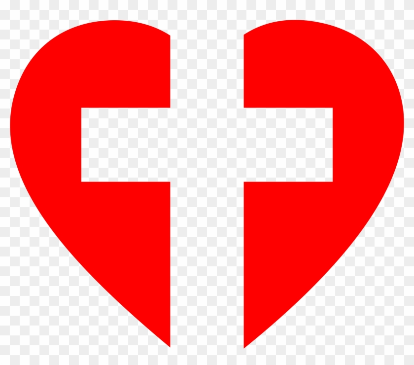 Cross And Heart Clipart At Getdrawings.