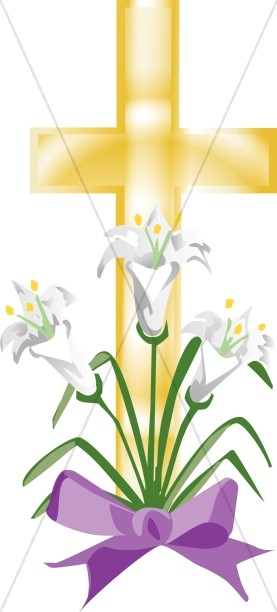 Easter Lily Cross.