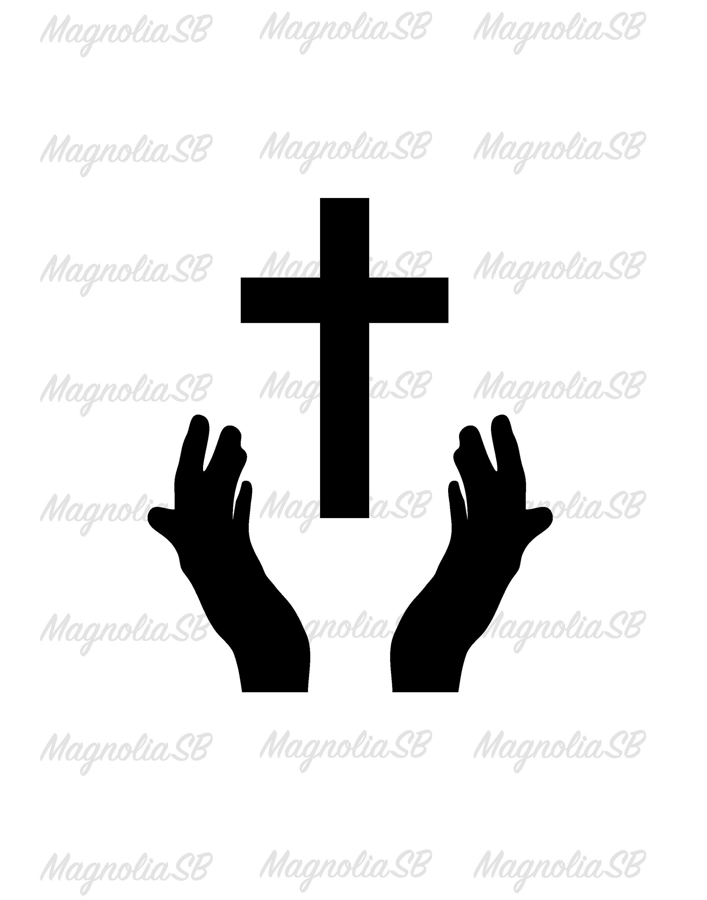 Praying Hands SVG / Praying Hands DXF / Praying Hand Clipart.