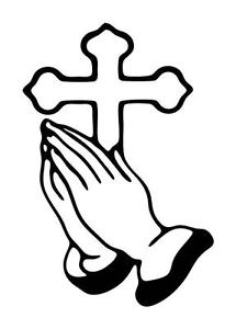 Praying Hands Clipart Bible.