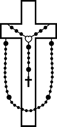 Cross And Rosary Clipart.
