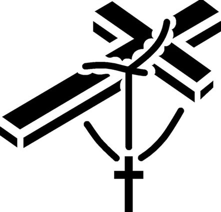 Cross With Rosary Clipart.