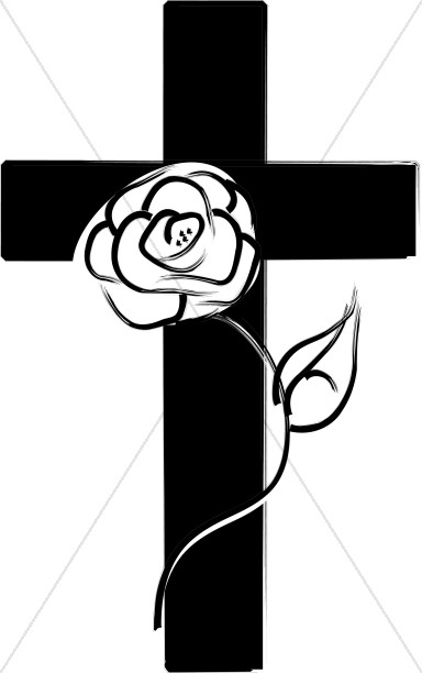 Cross With Rose.
