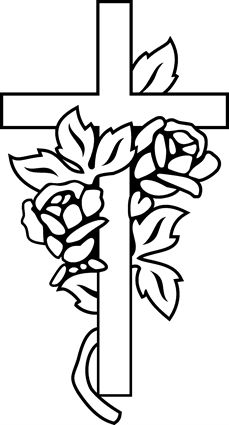 Cross With Roses Clipart.