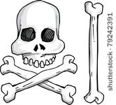 12404 pirate skull and crossbones clip art free.